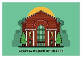 Augusta Georgia vykort vektor