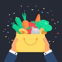 frisches Gemüse Abzeichen vektor