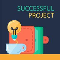framgångsrik projektbanner vektor