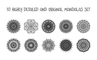 entspannende Mandalas gesetzt vektor