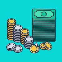 Münzen und Geld vektor