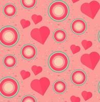 Vintage nahtloses romantisches Muster
