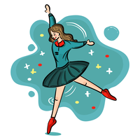 Schulmädchen-Ballett-Aufführung