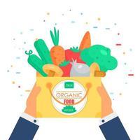 färskt grönsaksmärke vektor