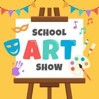 Schule Art Show Poster vektor