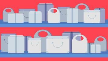 butik koncept banner vektor
