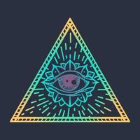alla ser öga i triangeln vektor