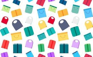 shop koncept sömlösa mönster vektor