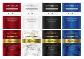 Zertifikat- und Diplomvorlagen festgelegt vektor