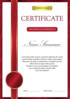 Zertifikat- und Diplomvorlage vektor