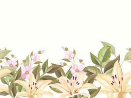 nahtloses Blumenmusterdesign für Mode und Hintergrund vektor