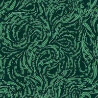 sömlös vektormönster av släta gröna strömmande linjer med sönderrivna kanter vektor