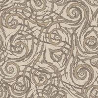 braune glatte Linien Ecken und Spiralen mit abgerissenen Kanten
