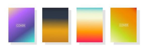 Sammlung von Farbverlaufshintergründen für Poster Flyer Banner