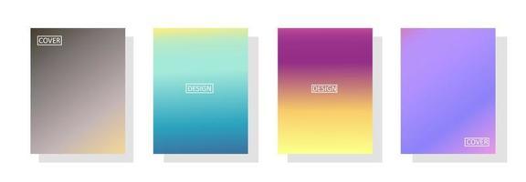 uppsättning abstrakt bakgrund med vacker gradationsfärg, färgstark bakgrund för affisch flyer banner bakgrund. vertikal banner. kall vätska bakgrund vektorillustration