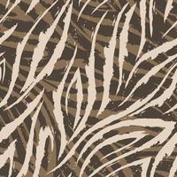 Vektor nahtloses Muster von beigen Linien und Ecken auf einem braunen Hintergrund
