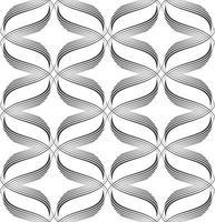 vektor sömlösa mönster av linjer ritade av en svart penna isolerad på en vit bakgrund