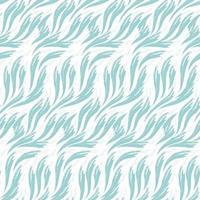 Vektor nahtloses Muster von Wellen gemalt von Farben des blauen lokalisiert auf weißem Hintergrund. Seetextur oder Flussfluss