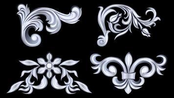 silbergraue Metallprodukte aus Gips, Stuckgewebe vektor