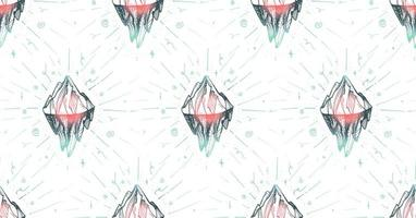 Bergeisberggipfel vektor