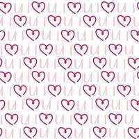 Rosa Herz des nahtlosen Musters des st Valentinsfeiertags vektor