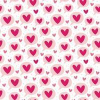 St Valentines semester kärlek meddelande sömlösa mönster vektor