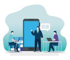 Online-Bildungstechnologie Menschen vektor