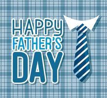 lycklig fäder dag kort med slips vektor