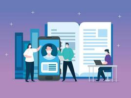 Online-Bildungstechnologie Menschen