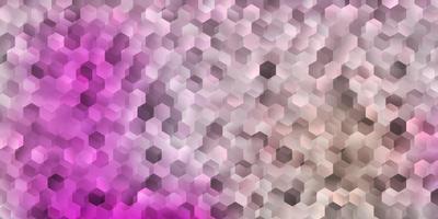 ljusrosa vektormönster med hexagoner. vektor