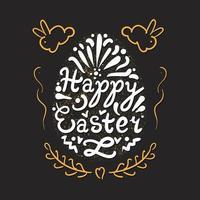 vintage glad påsk bokstäver