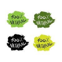 eko naturliga bokstäver vektor
