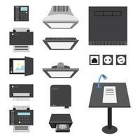 Büro- und Präsentationssymbole vektor