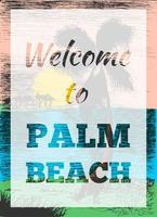 tropisk sommar palmaffisch vektor