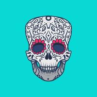 mexikansk detaljerad skalle