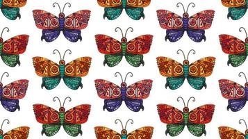 Steampunk Schmetterling nahtloses Muster vektor