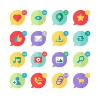 webb virtuella socail nätverksikoner vektor
