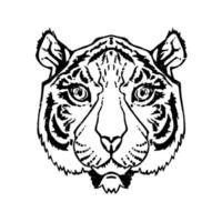 linjekonst tiger vektor