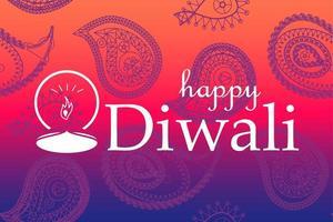 glad diwali firande banner vektor