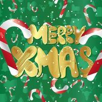 god jul med godisrotting vektor