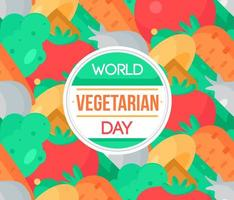 världens vegetariska dag vektor