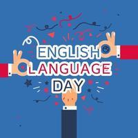 engelska språk dag banner vektor