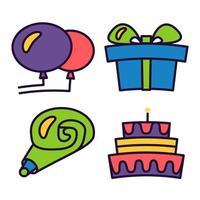 Grattis på födelsedagen och håll dig lugn vektor