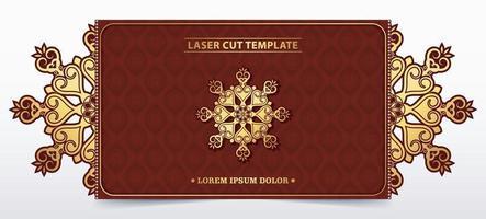 dekorative lasergeschnittene Vorlage für die Hochzeit vektor