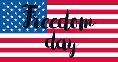 frihetsdag med flagga vektor