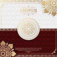 Luxus-Mandala-Hintergrund mit dekorativen Rahmen vektor
