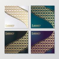 omslag av elegant mönster i guldfärg vektor