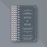 elegante Hochzeitseinladung mit Mustermotiv vektor