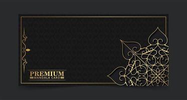 dunkelgoldenes Farbmandala-Hintergrundkonzept vektor