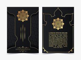 lyxigt islamiskt omslag med mandala-koncept vektor